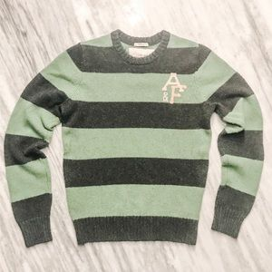 {Abercrombie + Fitch} Green + Gray Sweater